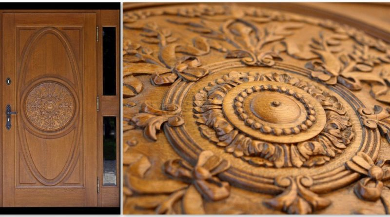 Solidne zewnętrzne drzwi drewniane
